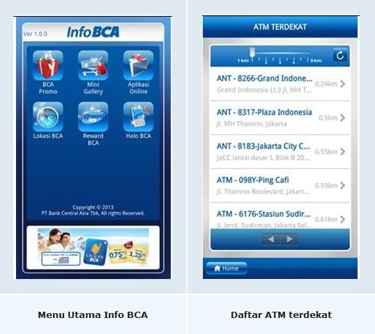 tampilan mobile banking BCA